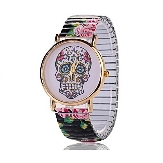 Relógio Feminino Caveira Mexicana Movido A Quartzo