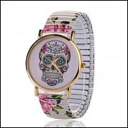 Relógio Fem. Caveira Mexicana C/Mov.a Quartzo